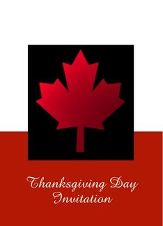 Happy thanksgiving canada invitation custom card with canadian flag happy thanksgiving canada invitation custom card with canadian flag greeting card reheart Images