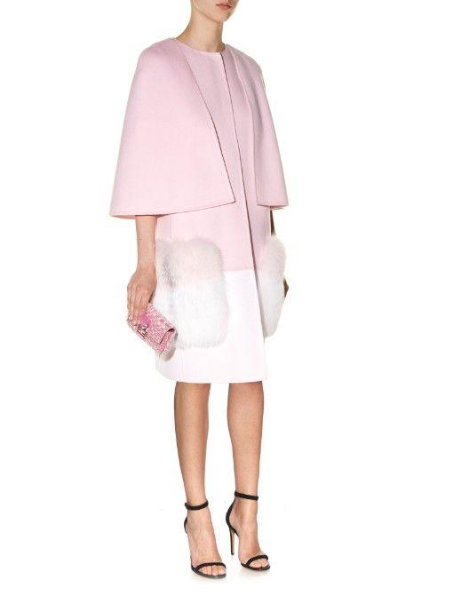 e7db4bd90549 Fendi Fur-pocket bi-colour coat