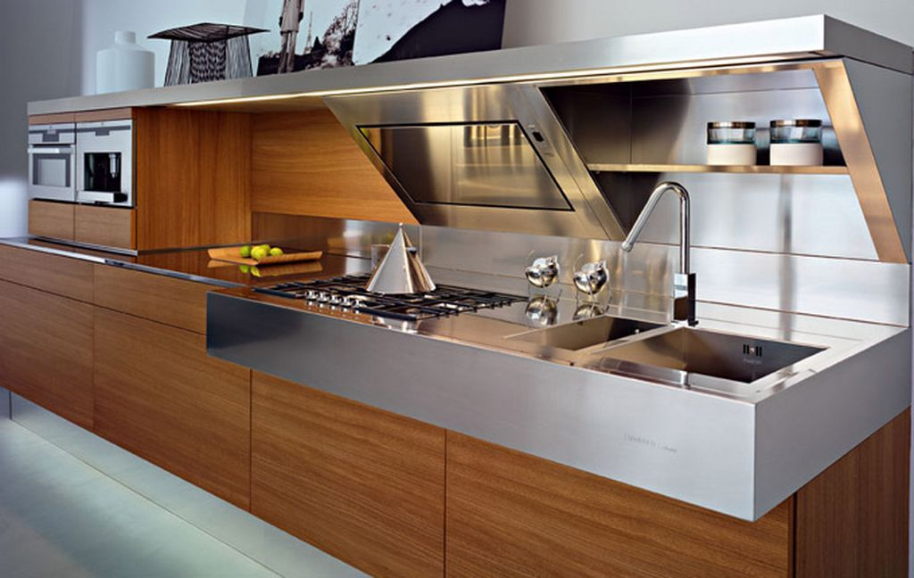 Best Modern Kitchen With Extended Linear Shape Clear Cut Work 400 x 300