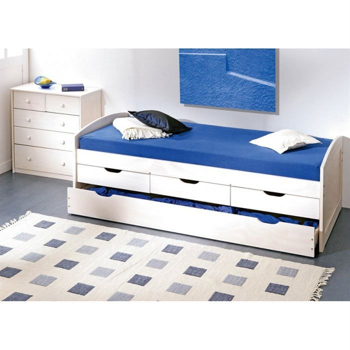 achat lit 1 personne pas cher lit 1 personne avec tiroir rangement cheminee pinterest. Black Bedroom Furniture Sets. Home Design Ideas