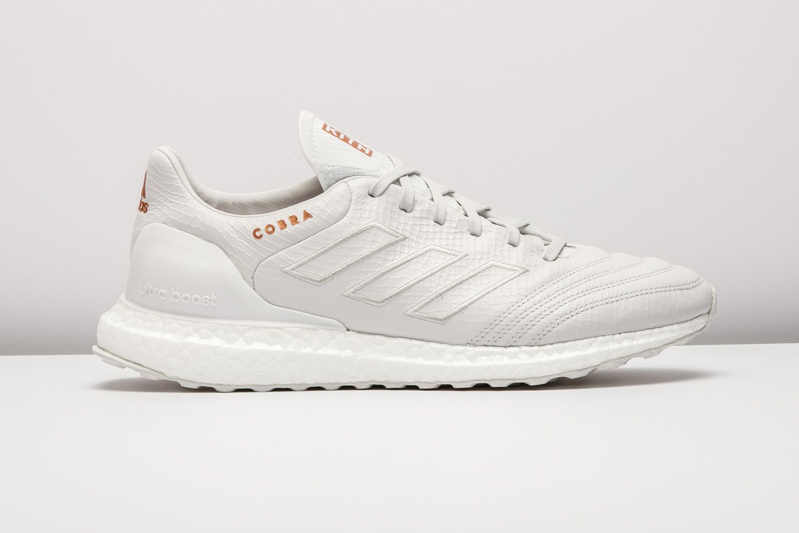 dd528e59167 The KITH x adidas Soccer Collection brought us this pristine white Copa  17.1 Ultra Boost.