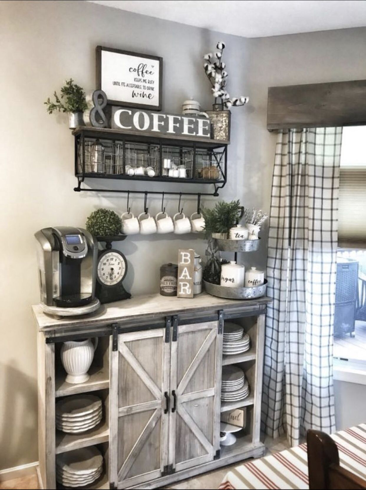 Pin By Jaymee Pelley On Coffee Bar Home In 2020 Coffee Bar Home Bars For Home Farm House Living Room