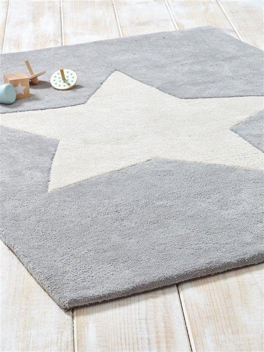 Teppich 'Stern', Baumwolle HELLGRAU Babyzimmer grau, Junge ähnliche Projekte und Ideen wie im Bild vorgestellt findest du auch in unserem Magazin