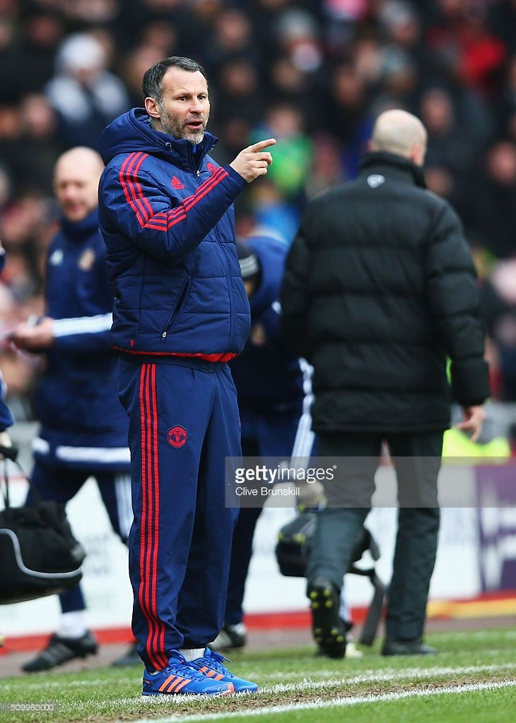 Ryan Giggs Assistant Manager Of Manchester United Getures During The Manchester United Manchester Ryan Giggs