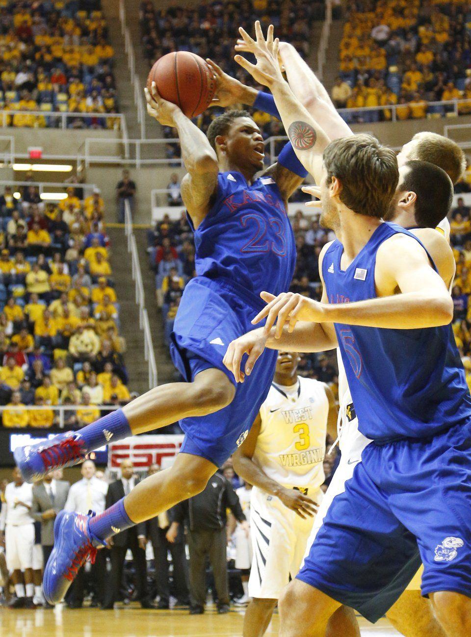 Ben McLemore leaps for basket in the Jayhawks 6156 win
