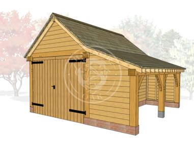 The Stapleton multifunctional oak garage or car port
