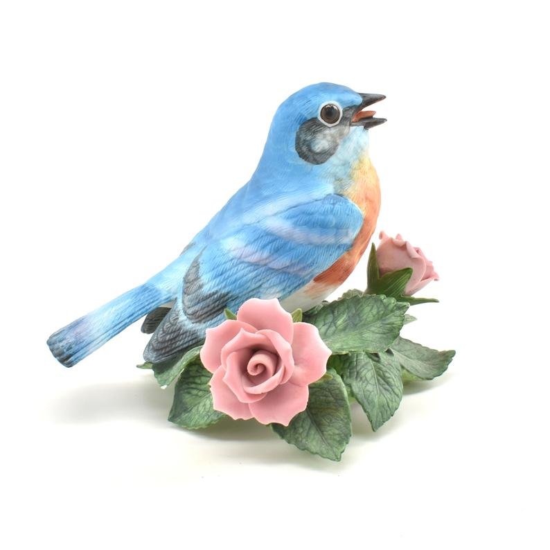 Vintage Lenox Bluebird Bell handcrafted Fine Porcelain Bell 5 Inches Tall 1991