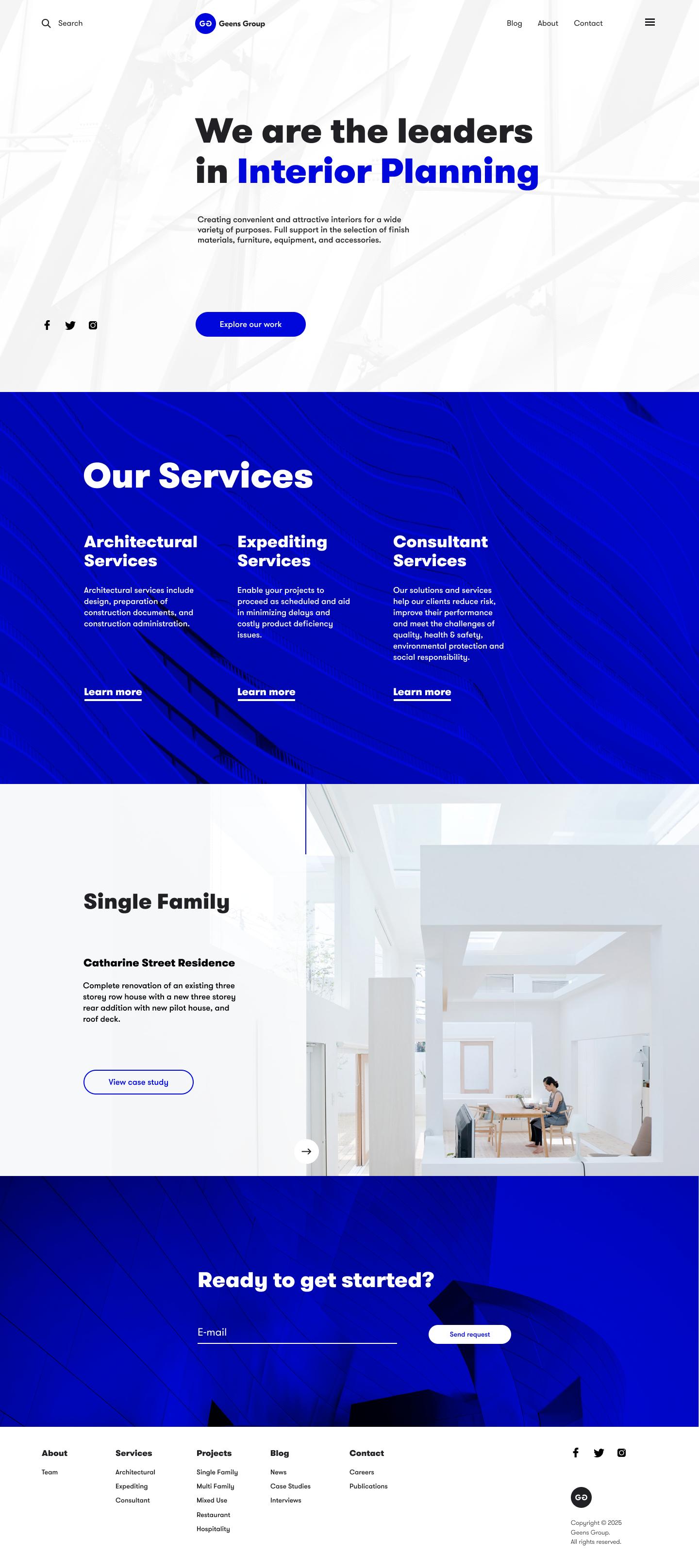 Construction Company Website Design Tubik Simple Web Design Website Design Company Homepage Design