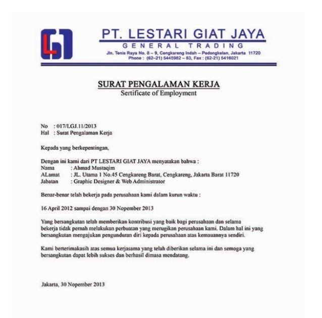 Download Contoh Surat Lamaran Kerja Download Contoh Surat