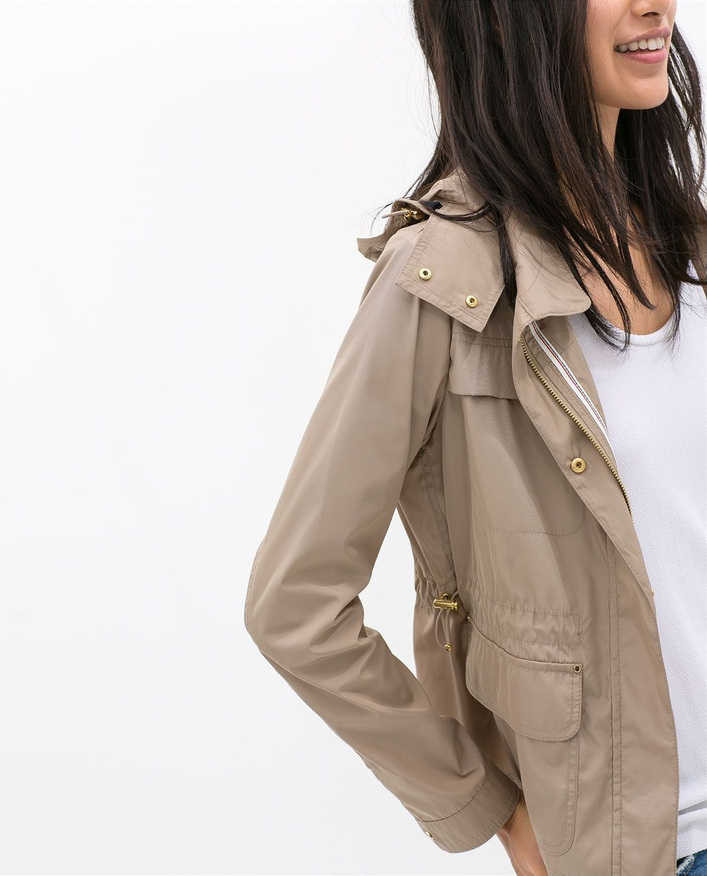 Zara Woman Jacket With Pockets Jackets Outerwear Outerwear Women [ 1269 x 1024 Pixel ]