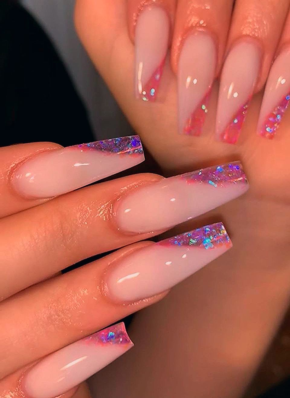 Photo of 20 latest trendy pink color coffin nails styles in autumn and winter