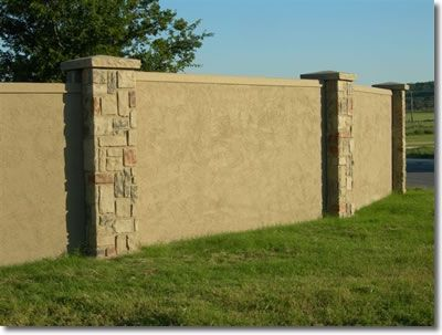 stucco retaining wall ideas pic | we have added Stucco panels to our ...
