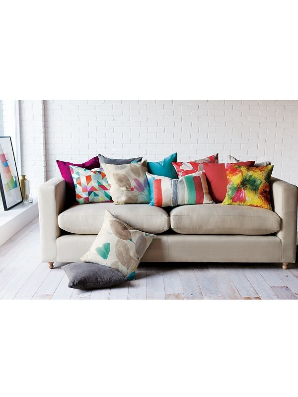 Sofa With Multicoloured Cushions Great To Bring Colour To A