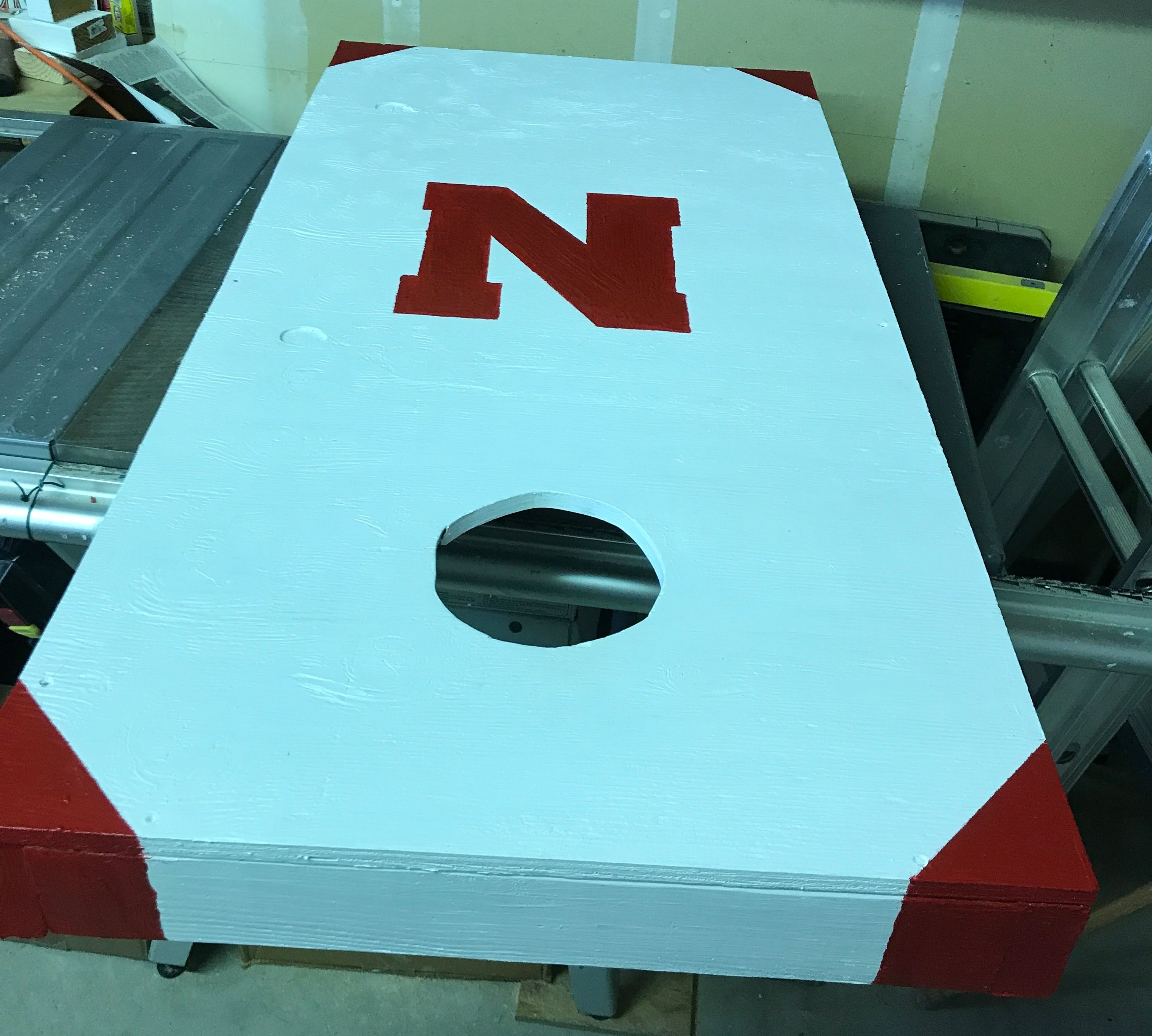 Enjoyable Husker Bean Bag Toss Game Made By Bill Huskers Toss Creativecarmelina Interior Chair Design Creativecarmelinacom