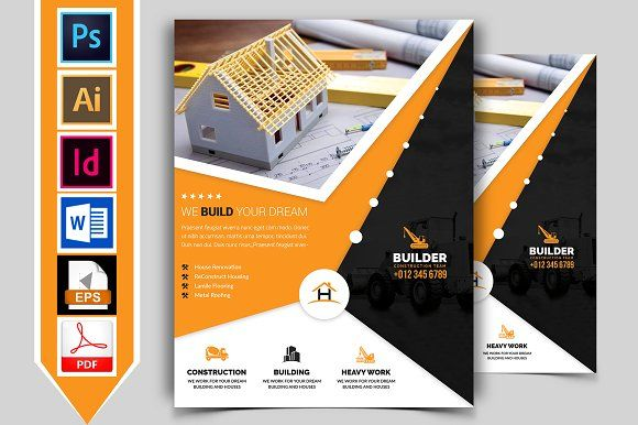 construction flyer template vol 03 by imagine design studio on