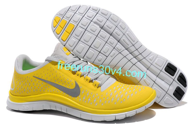mens nike free 3 0 v4 chrome yellow reflect silver platinum shoes rh pinterest com