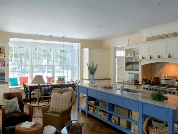 See a cottagekitchen with a periwinkle blue island on HGTV ...