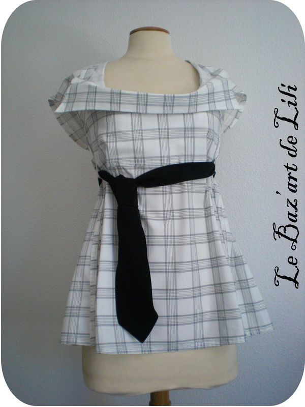 Pinterest Recyclage d'homme chemise couture ©le baz'art de Lili rr0w15