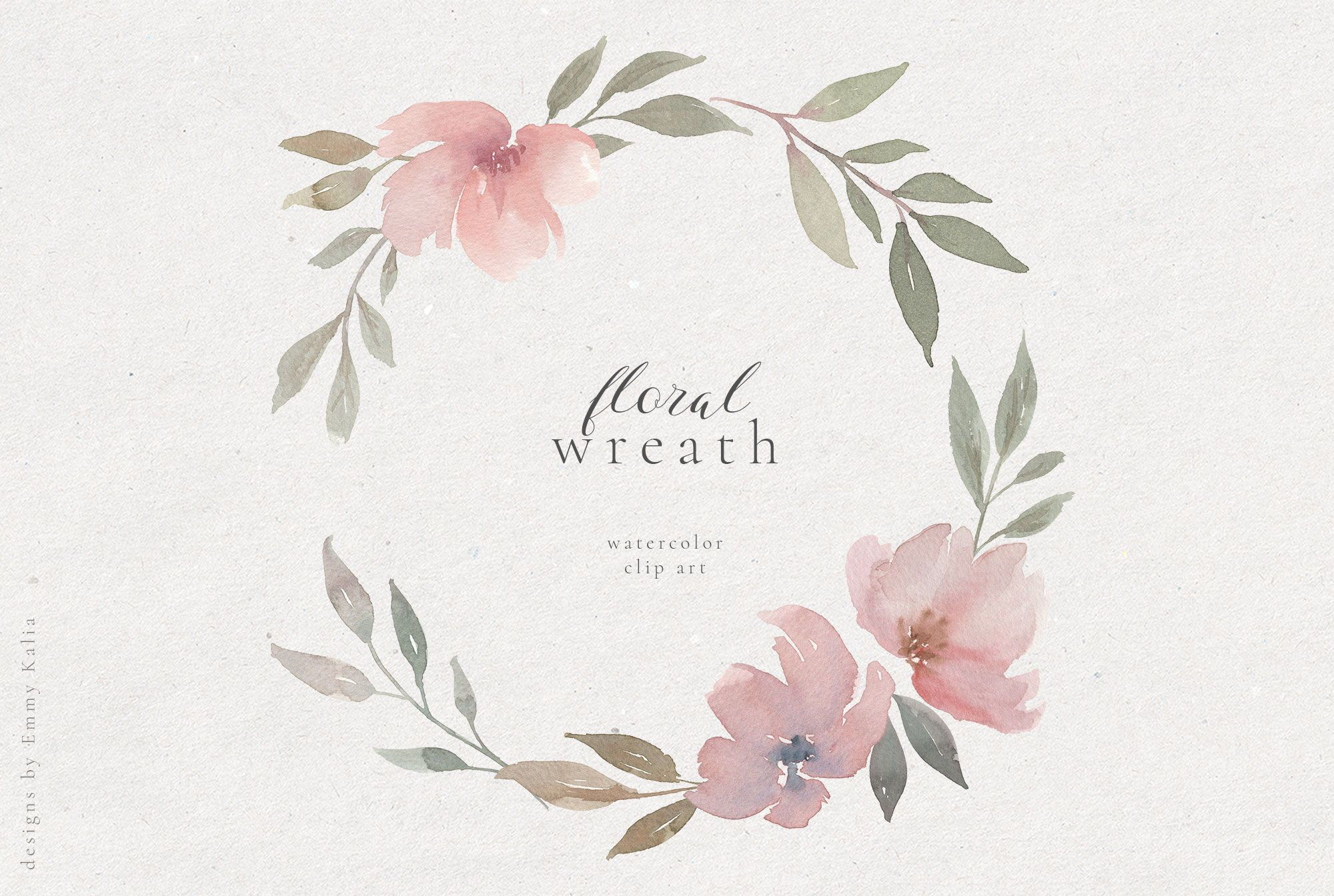 Hand Painted Floral Wreath Watercolor Clip Art Flower Etsy In 2020 Painted Floral Wreath Floral Wreath Watercolor Wreath Watercolor
