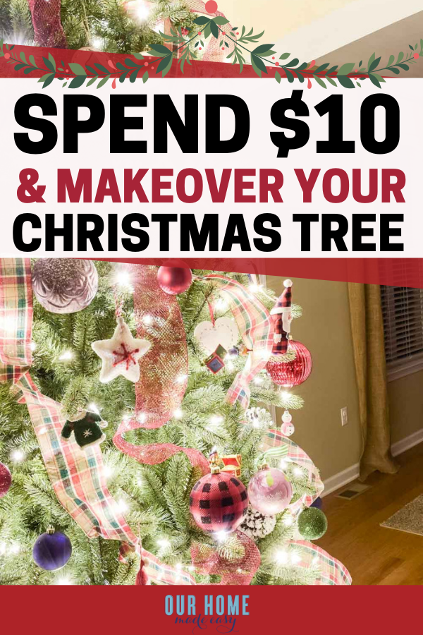 My Favorite 10 Trick For Updating Our Christmas Tree Diy Christmas Garland Outside Christmas Decorations Christmas Decorations Rustic