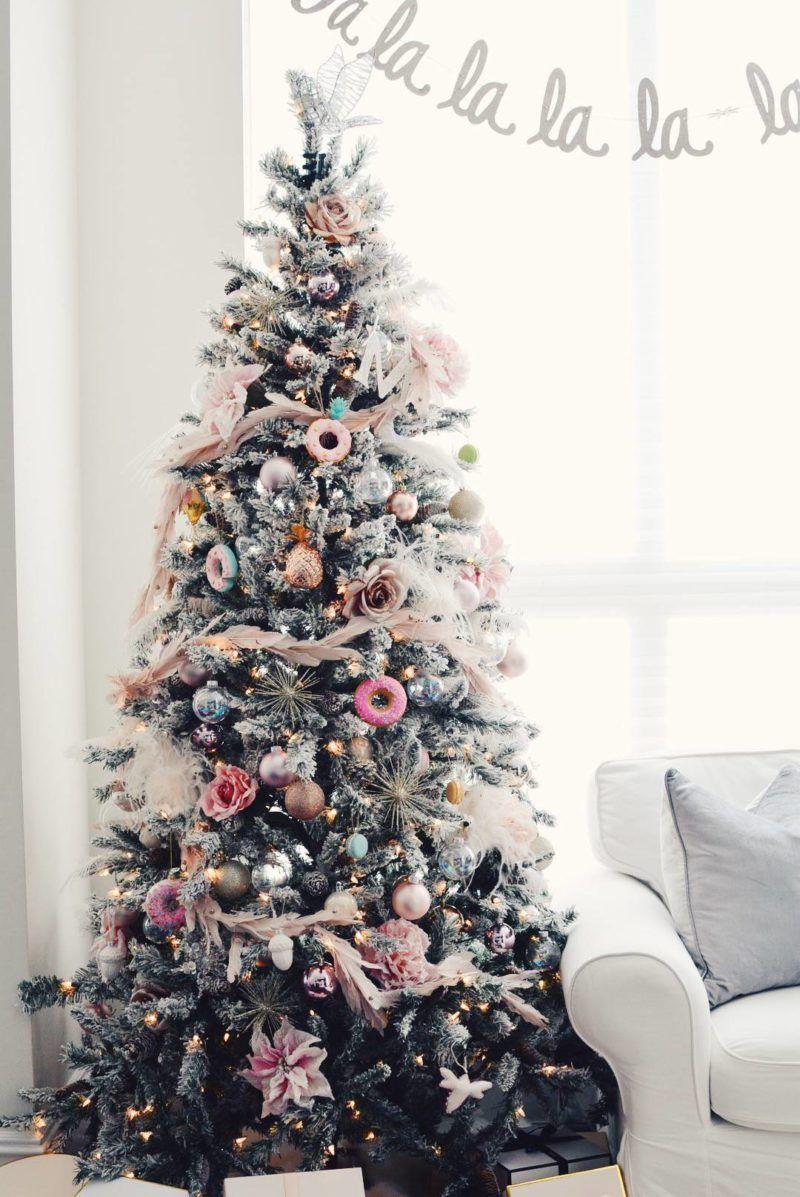Holiday Home Tour A Pink Christmas The Pink Dream Pink Christmas Decorations Pink Christmas Pink Christmas Tree