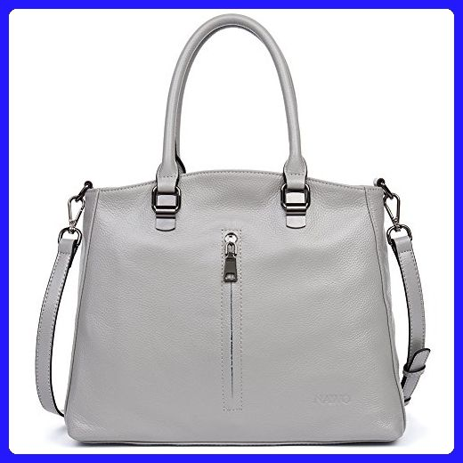 NAWO Women s Leather Handbags Tote Top Handle Shoulder Bags Crossbody  Handbag Designer Purse Gray - Top 2852a550d984c