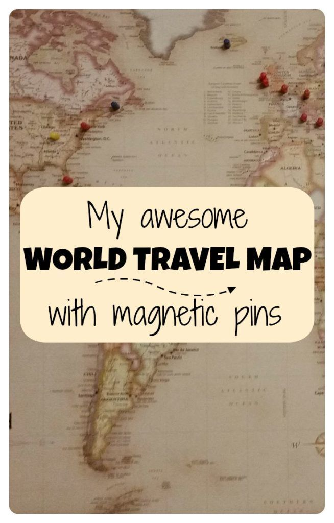 My awesome world travel map with pins Travel maps Road trips and