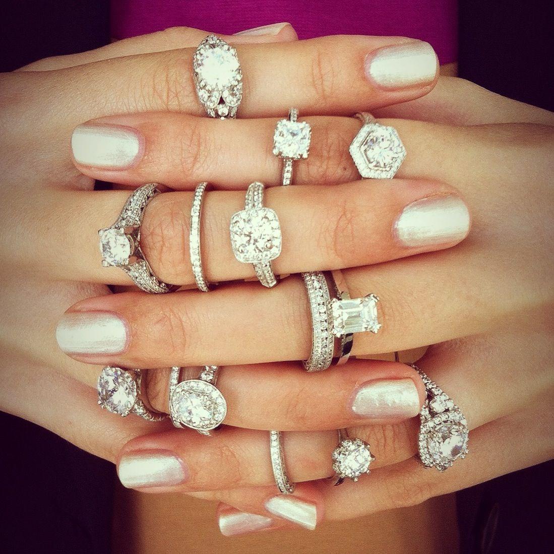 platinum or white gold engagement ring wedding rings