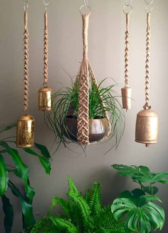 Sample Sale 3 Jute Macram 233 Bells Plant Hangers Design