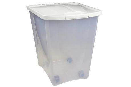 Penn Plax Van Ness 50lb Pet Food Container White Large Pet Food