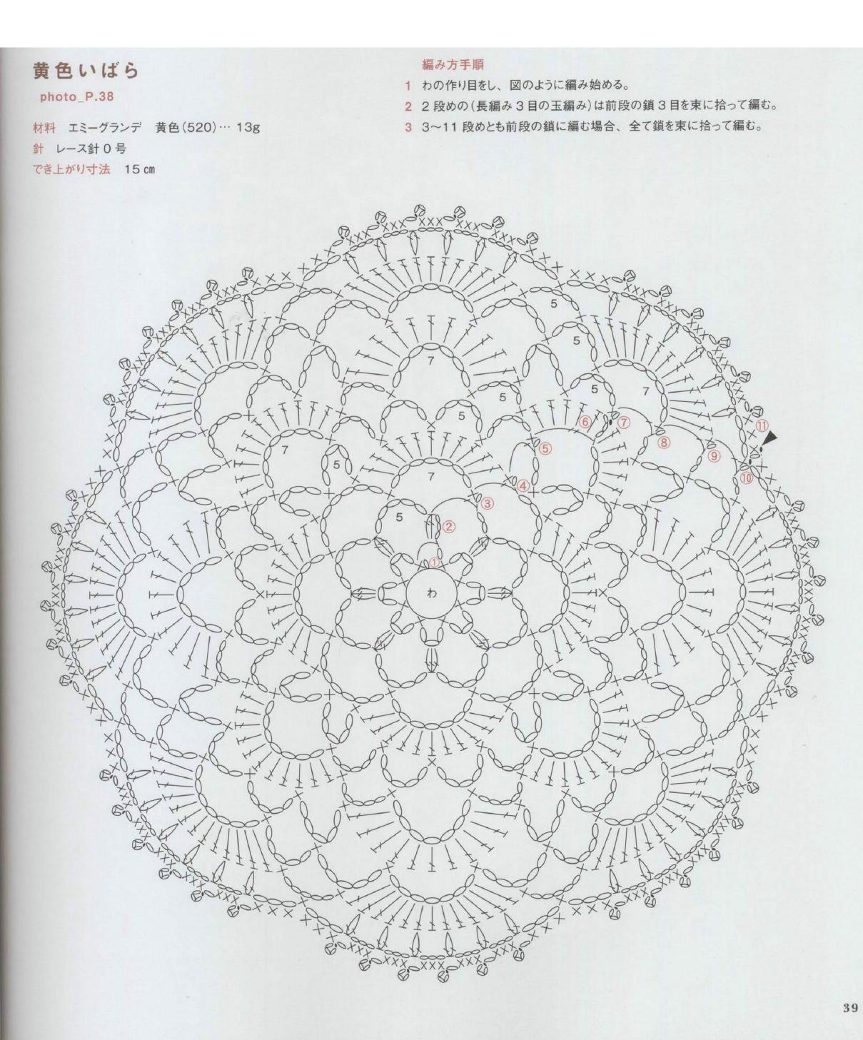 Crochet Asahi Rose Pattern