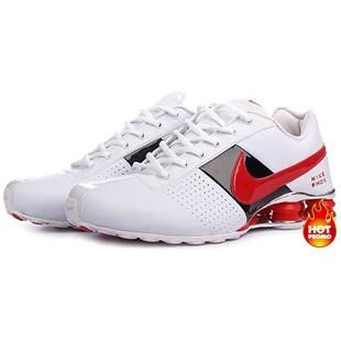 http://www.asneakers4u.com/ Mens Nike Shox Deliver White Red