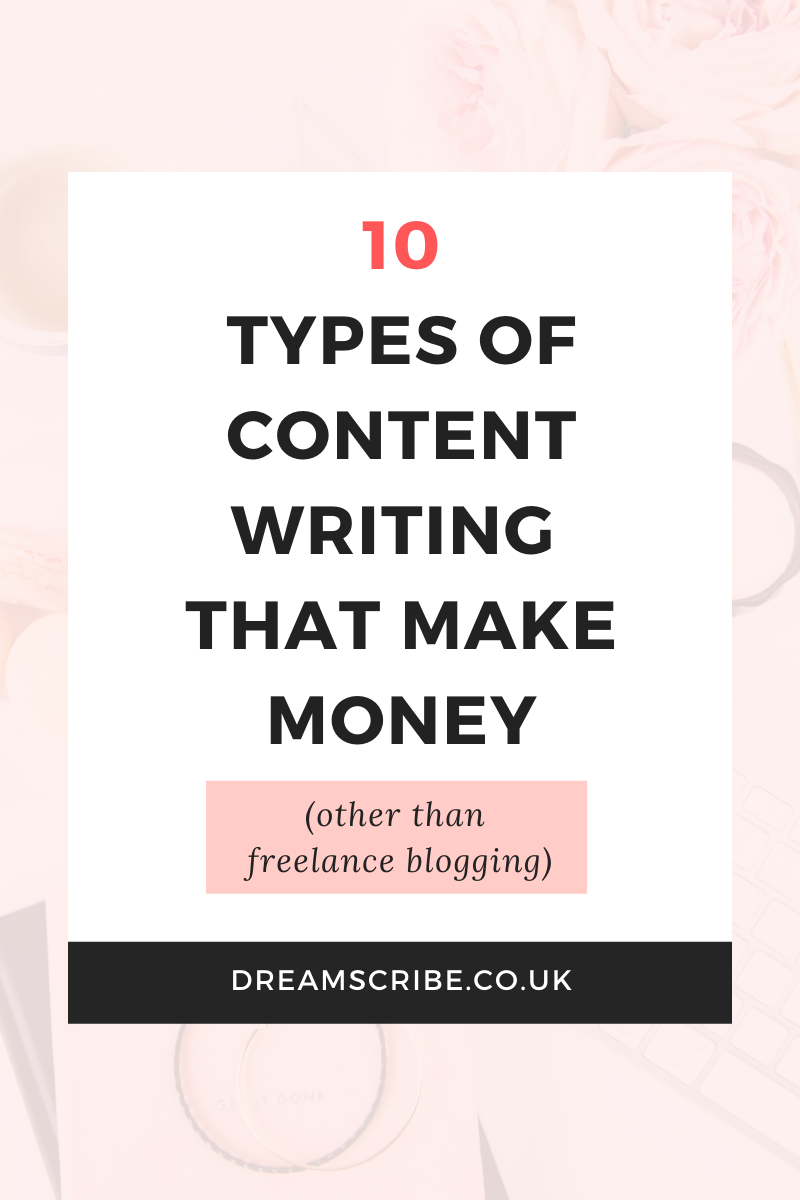 10 Types of Content Writing That Make Money (Other Than