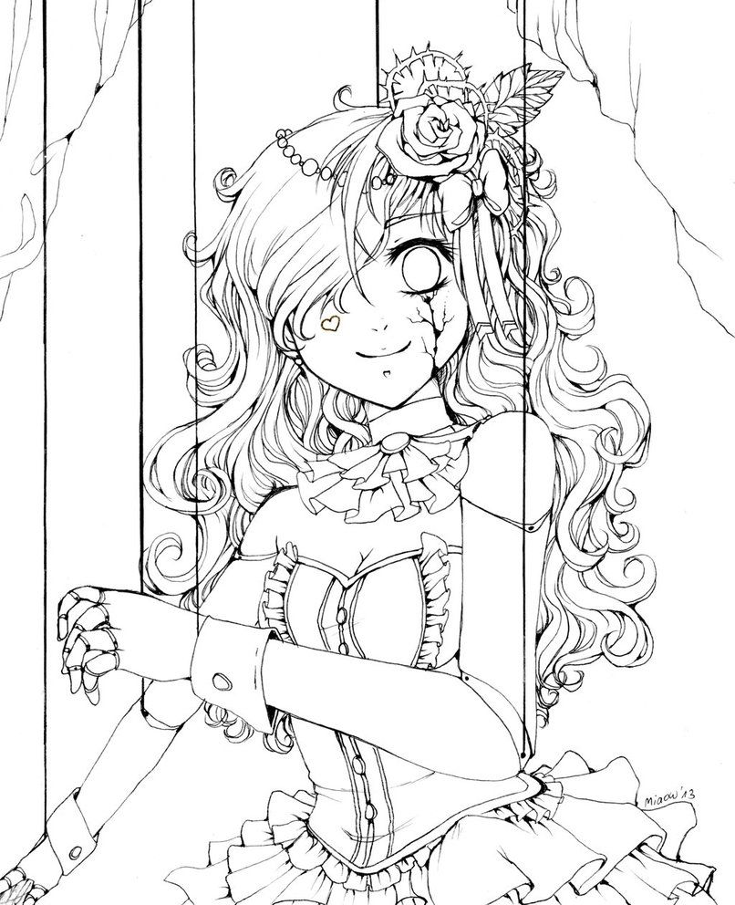 Puppet Chibi Coloring Pages Cute Coloring Pages Cool Coloring Pages [ 992 x 806 Pixel ]