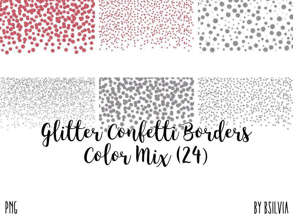 Glitter Confetti Borders Pack Silver Glitter Confetti Png Etsy Glitter Confetti Glitter Overlays Rose Gold Glitter Confetti
