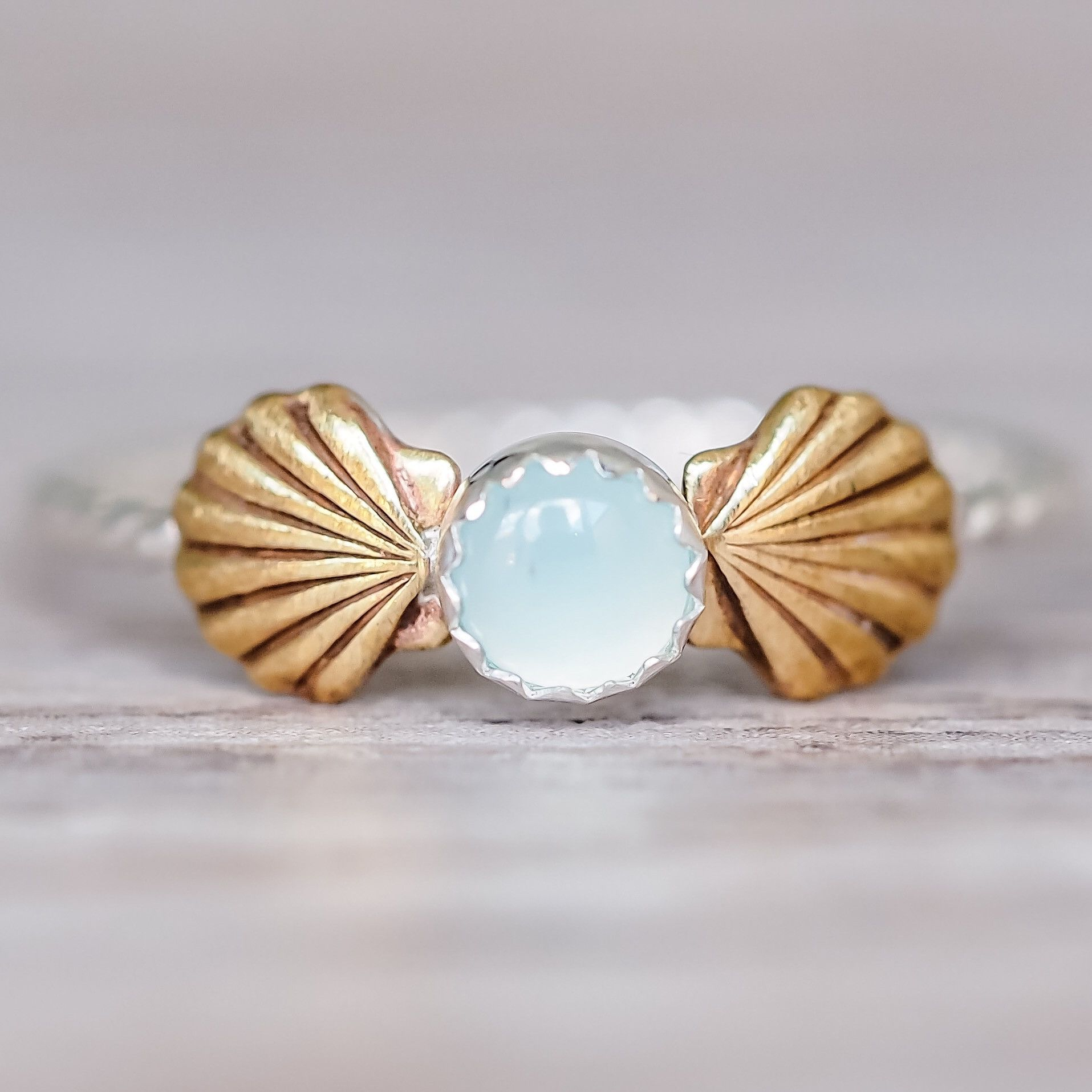 Mermaid Sea Shells and Aqua Chalcedony | Bohemian Gypsy Jewels | Indie and Harper