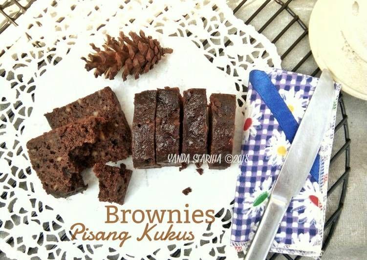Resep Brownies Pisang Kukus Ala Jtt Super Moist No Mixer Oleh Yanda Starilia Resep Hidangan Penutup Resep Brownies