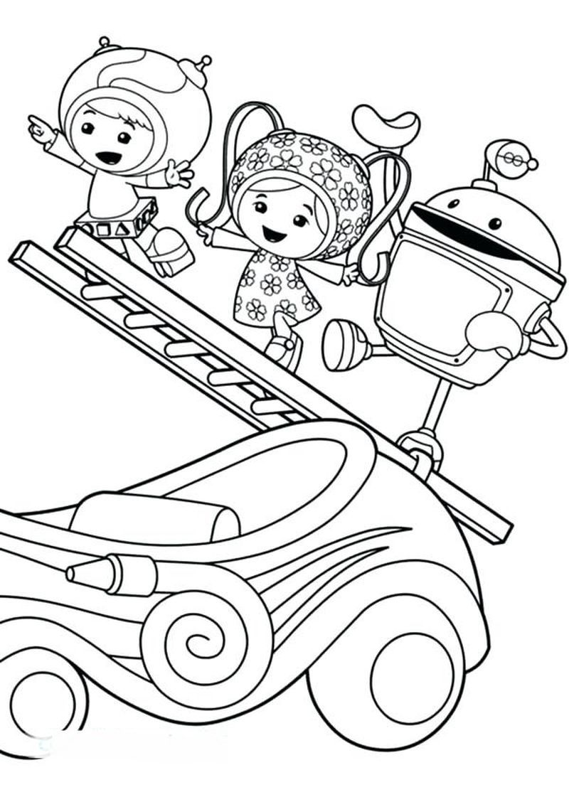 Omizomi Team Umizoomi Coloring Pages Summer Coloring Pages