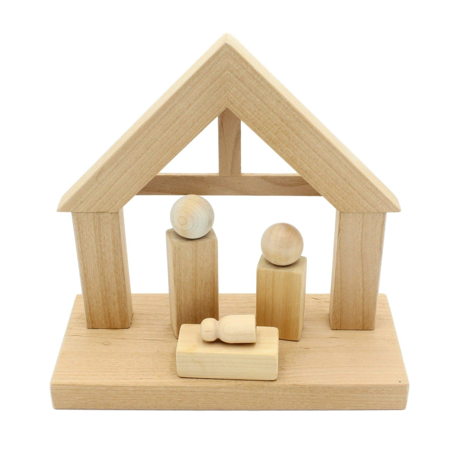 Photo of DIY Solid Wood Nativity, Free Shipping, Christmas Craft, Crafts for kids, s