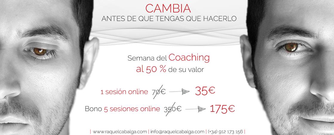 Solo por esta semana... ¡#Coaching al 50%! Hazte con tus sesiones escribiendo a info@raquelcabalga.com. ¿A qué esperas?