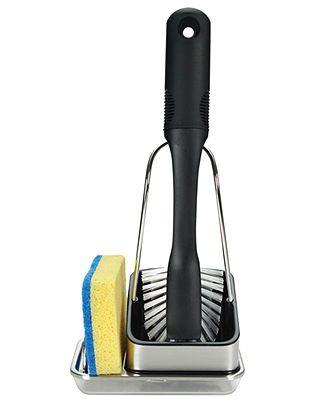 Dish Racks · So Roommates Dont Leave Nasty Wet Sponges In The Sink! OXO  Sponge Holder U0026 Scrub