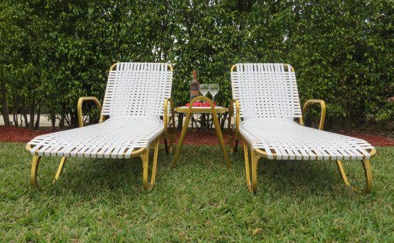 retro aluminum patio furniture. Retro+Vintage+Gold+Aluminum+Patio+Set+Two+Chaise+by+SoulfulVintage Retro Aluminum Patio Furniture