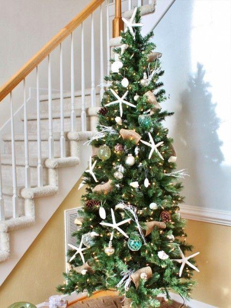 Coastal christmas tree christmas burlap christmas tree christmas - coastal christmas decorations