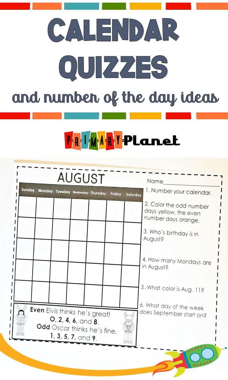 Calendar Activites 2nd grade   Calendar math [ 1440 x 864 Pixel ]