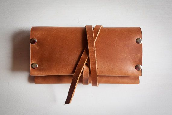 Stylish leather pouch for your rolling tobacco. Perfect gift for those you love…