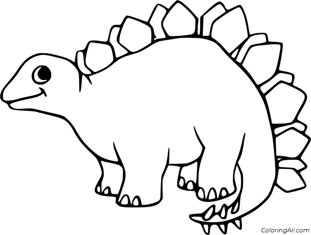 41 free printable Stegosaurus coloring pages in vector ...