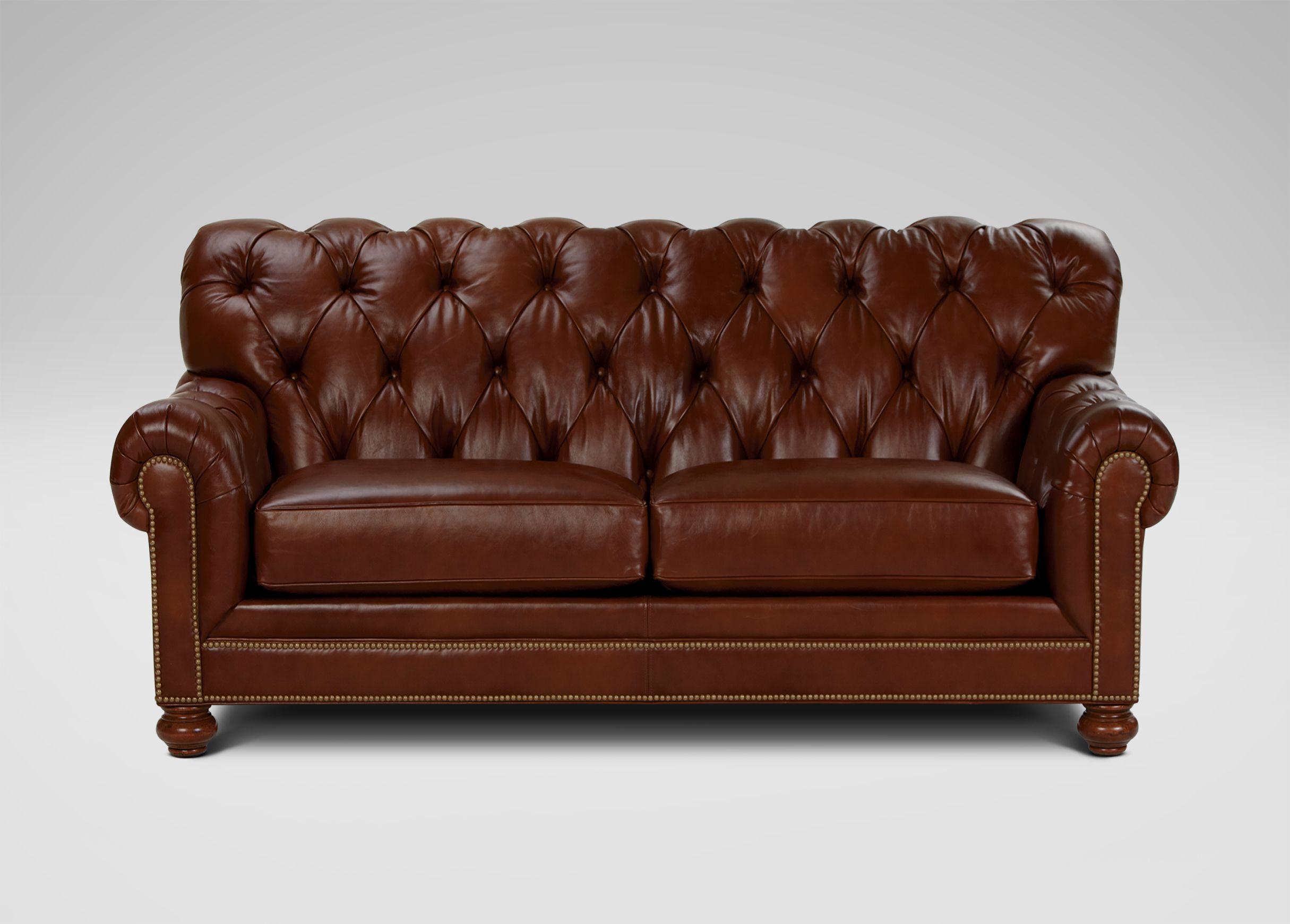 Chadwick Leather Sofa, Old English/Saddle Leather sofa