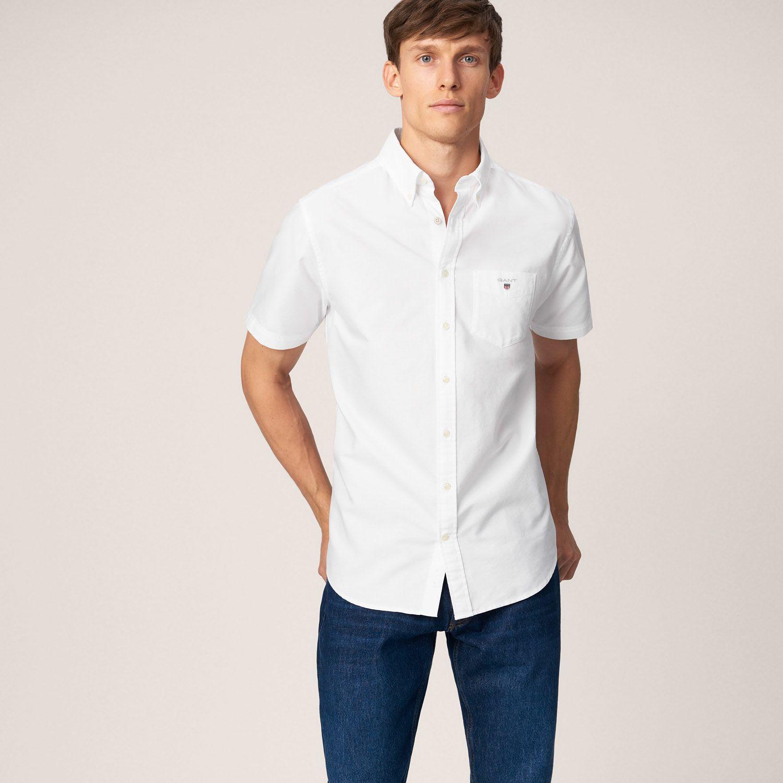 af6000c17 GANT Regular Short Sleeve Oxford Shirt | Shirts | Shirts, Short ...