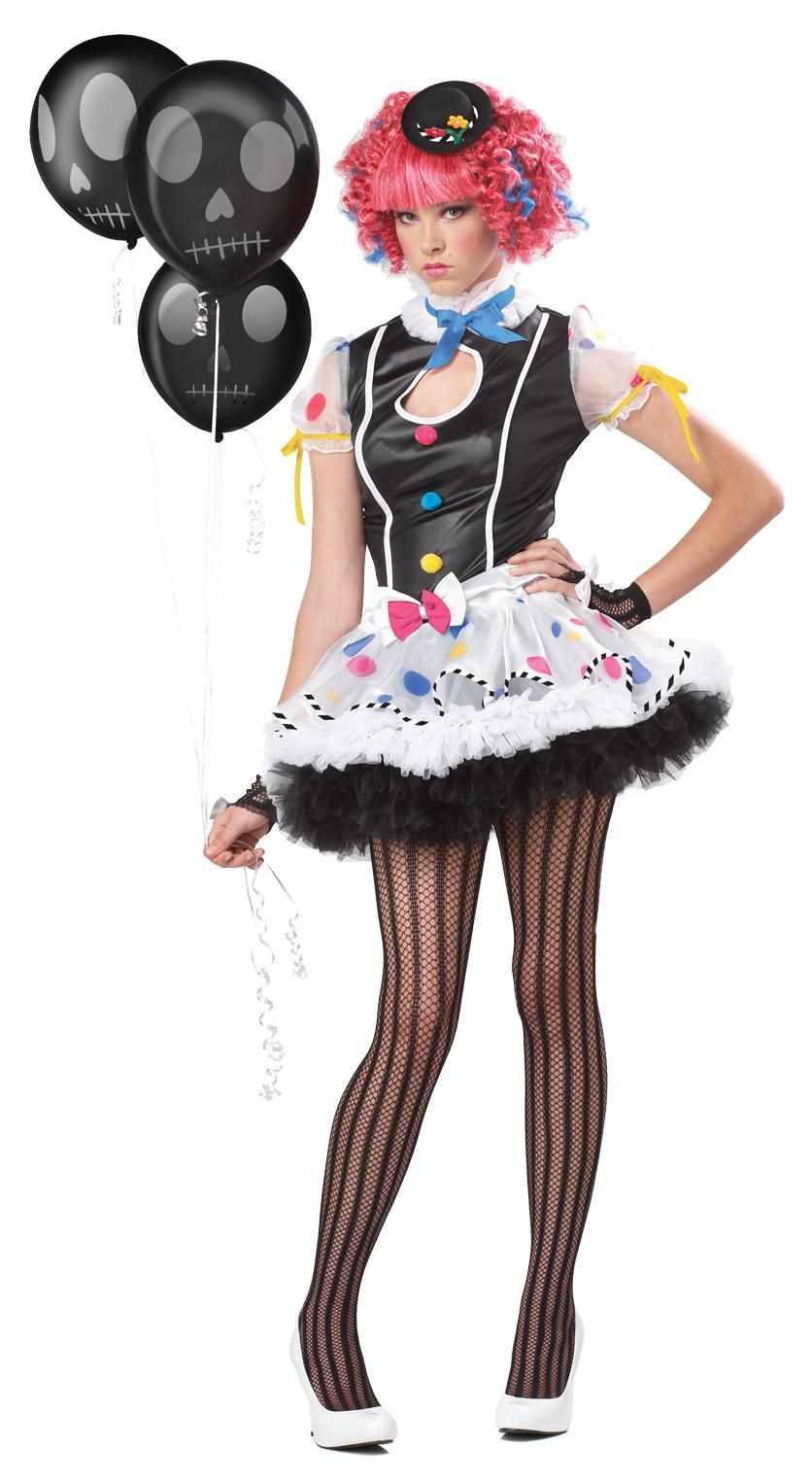 sassie the clown katy perry candy teen girls costume - Girl Clown Halloween Costumes