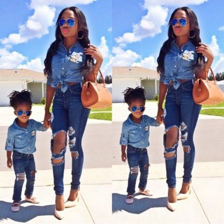 e2b3dcf287 Best Mini-me photos: Fashionista parents and kids! matching outfits, mommy  and daughter, daddy and son